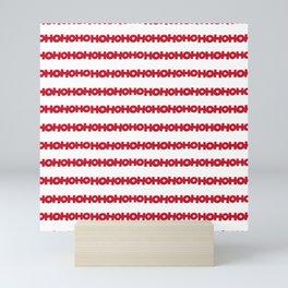 Ho Ho Ho: Red and White Palette Mini Art Print