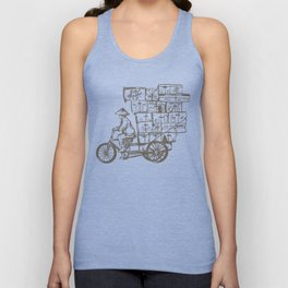 Bike Delivery Unisex Tank Top