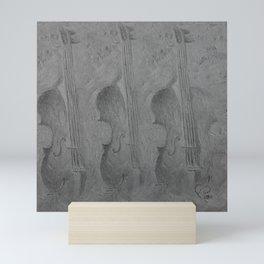 Violin by Lu, black-and-white Mini Art Print