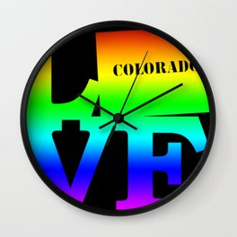 Colorado Pride USA State Love Map Wall Clock