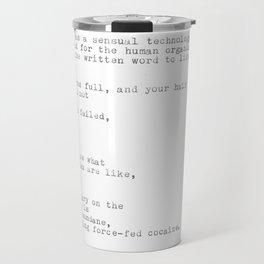 untitled (after 'the waste land') Travel Mug