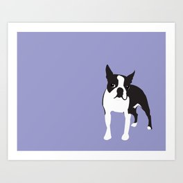BOSTON TERRIER - Lilac Art Print