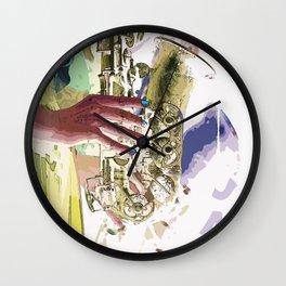 Gentle Sax Wall Clock