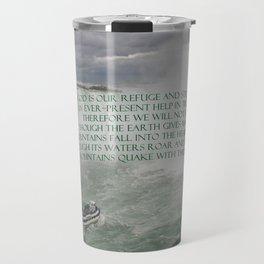 God is our Refuge Travel Mug