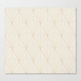 Gisela Geometric Line Pattern - Rainbow Canvas Print