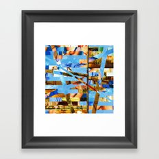 Geoffrey (stripes 18) Framed Art Print