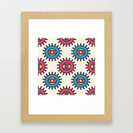 Eye In A Circle Boho Pattern Framed Art Print