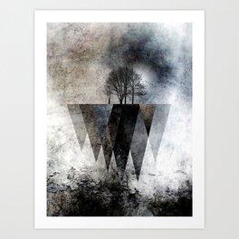 TREES over MAGIC MOUNTAINS II Art Print