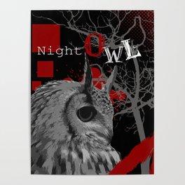 Trash Polka Night Owl & Tree Branches Poster