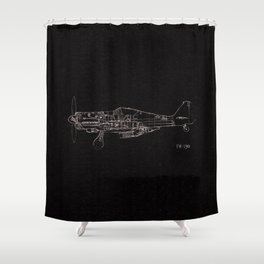 FW - 190 ( B & W) Shower Curtain