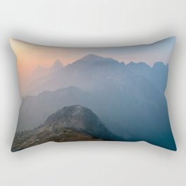 Sunrise On The Mountain Rectangular Pillow