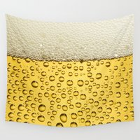 beer Wall Tapestries featuring Beer by Thorin