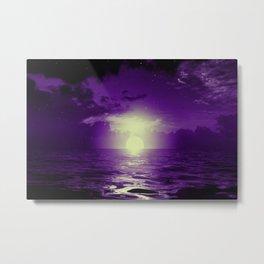 Purple cloud by #Bizzartino Metal Print