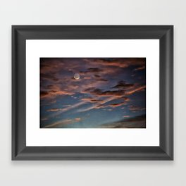 Crescent Moon At Sunrise Framed Art Print