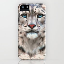 Irbis, snow leopard, big cat, cat art, feline iPhone Case