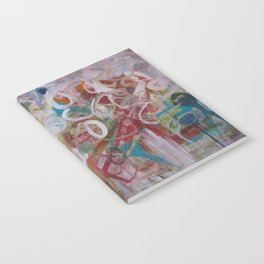 Playing in the Garden - Abstract Modern Contemporary Flowers Notebook