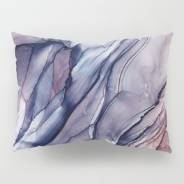 Slate Purple and Sparkle Flowing Abstract Pillow Sham