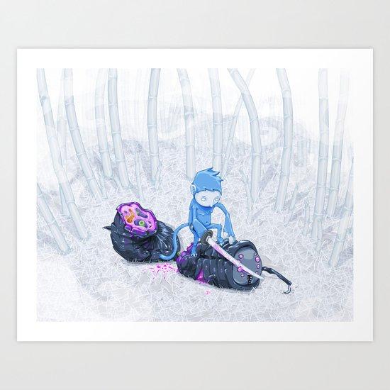 Samurai Monkey Art Print
