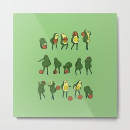 DBall over the shoulder with Avocado Metal Print