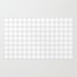 Small Diamonds - White and Pale Gray Rug