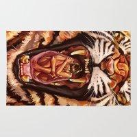 predator Area & Throw Rugs featuring Predator by Studio Catawampus
