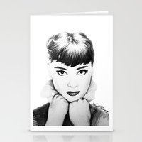 hepburn Stationery Cards featuring Hepburn by Aoife Rooney Art