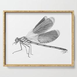 Dragonfly Illustration Serving Tray