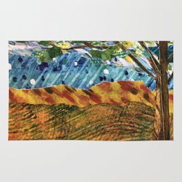 Storybook Landscape Collage Rug