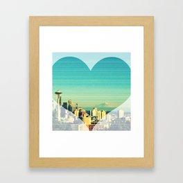 Seattle Love Framed Art Print