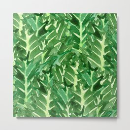 Holly Jolly Leaves (Large Pattern) Metal Print