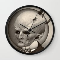 earthbound Wall Clocks featuring EARTHBOUND MISFIT by Julia Lillard Art