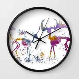 Deer Skeletons Wall Clock