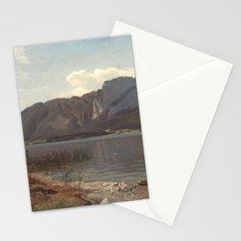 Hans Gude Painting -  Landskap Fra Drachenwand Ved Mondsee 1870  | Reproduction | Norwegian Art Stationery Cards