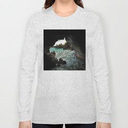 Let Go, Let God  - Sea Cave Long Sleeve T-shirt