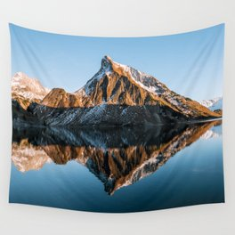 Calm Mountain Lake at Sunset - Landscape Photography Wall Tapestry