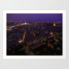 Paris At Night 2 Art Print