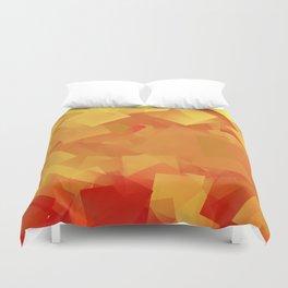 Cubism in orange Duvet Cover