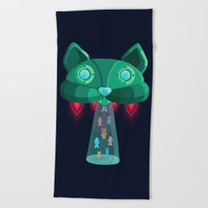 CatShip Beach Towel