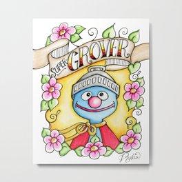 Super Grover Metal Print
