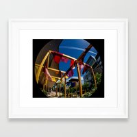 fabric Framed Art Prints featuring Fabric by Michelle Chavez