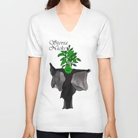 stevie nicks V-neck T-shirts featuring Stevia Nicks by Pattavina