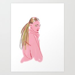 Hairstyle texture Art Print