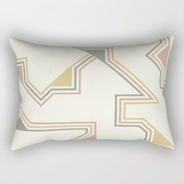 Abstract Geometric Color Rectangular Pillow
