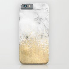 Gold Dust on Marble Slim Case iPhone 6s