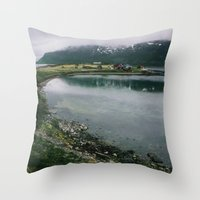 norway Throw Pillows featuring Norway by A. Serdyuk