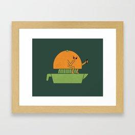 Making Juice Framed Art Print