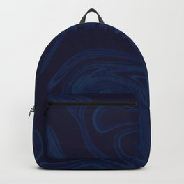 Dark Blue Marble Pattern Backpack