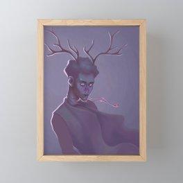 Deer boy Framed Mini Art Print