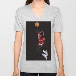 THE GREATEST BASKETBALL PLAYER - JORDAN POSTER AND ARTWORK Unisex V-Neck