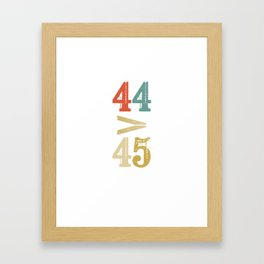 44 > 45 Anti Trump Impeach Framed Art Print